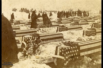 "Dec. 28, 1899, Final Burial of the victims of the ""Maine"", Arlington Cemetery"