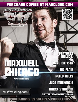 911 Wrestling Magazine - Jan 14 - Maxwell Chicago Cover