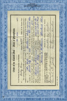 1951 BETSY ROSS PETITION FOR MRS. WILLIAM SCHAUMANN
