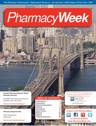 Pharmacy Week, Volume XXIII - Issue 11 - March 16 - March 22, 2014