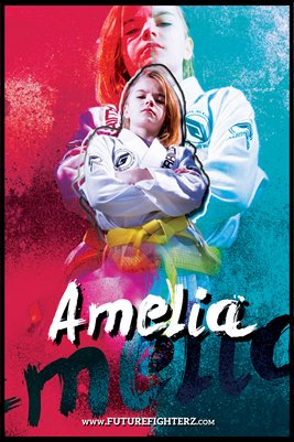 Amelia Shakespeare Grunge Poster