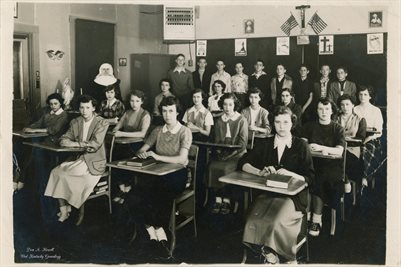 ST. JEROME SCHOOL CLASS FROM THE 1950'S