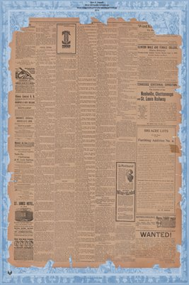 (Pages 3-4) August 25, 1897, Mayfield Monitor, Mayfield, Kentucky