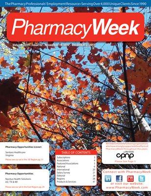 Pharmacy Week, Volume XXVI - Issue 42 - November 19, 2017 - December 2, 2017
