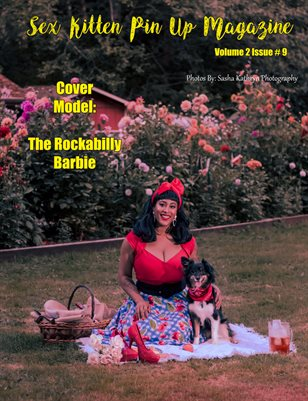 Sex Kitten Pin Up Magazine Cover 2 The Rockabilly Barbie September 2019 Issue