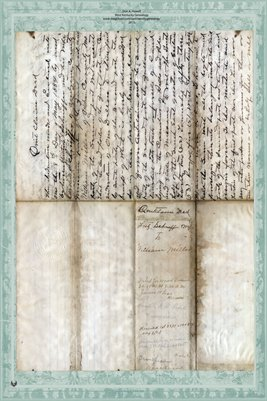 1860 Deed, Schniffer to Miller, Audrain County Missouri