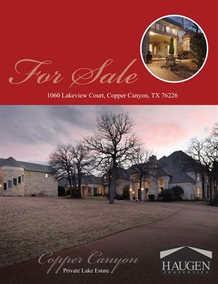 1060 Lakeside, Copper Canyon, Texas - Haugen Properties