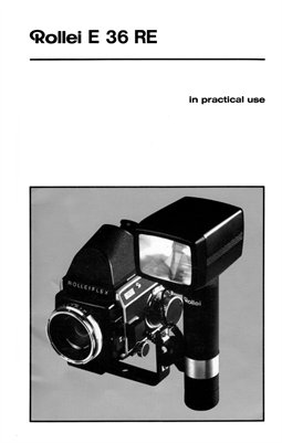 Rollei E 36 RE Flash Instruction Manual (English)