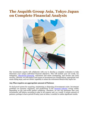 The Asquith Group Asia, Tokyo Japan on Complete Financial Analysis