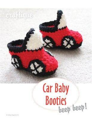 Craftique - Crochet Car Baby Booties