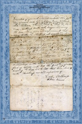 1816 Enos Northrup & William Warner Agreement, Salisbury, Rowan, North Carolina