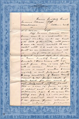 (PAGES 1-2) 1893 Farmers Tobacco Warehouse Vs. Wade, Graves County, Kentucky