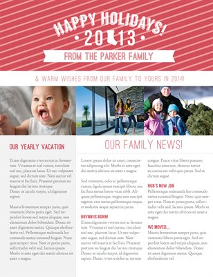 "Templates - Holiday   | 8.25"" X 10.75"" Pamphlet Newsletter T"