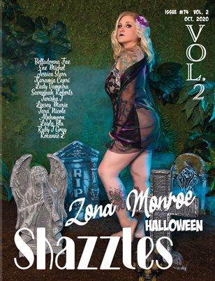 Shazzles Halloween Issue #74 VOL 2 Cover Model Zone Monroe