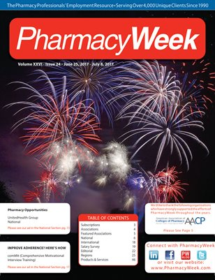 Pharmacy Week, Volume XXVI - Issue 24 - June 25, 2017 - July 8, 2017