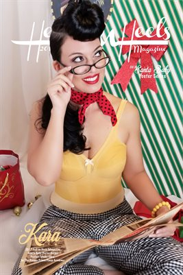Hell on Heels Magazine Santa Baby Poster Series Kara