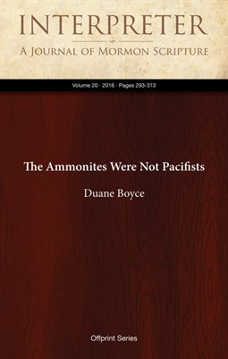 The Ammonites Were Not Pacifists
