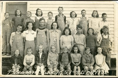 1939 Grades 1-8 Pleasant Grove School Marshall County, Kentucky
