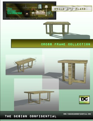 Cross Frame Collection: Dining Table