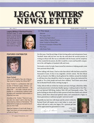 Legacy Writers' Newsletter 1:3