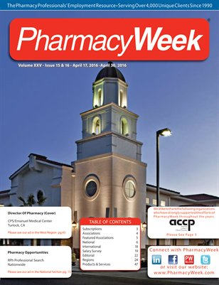 Pharmacy Week, Volume XXV - Issue 15 & 16 - April 17, 2016 - April 30, 2016