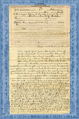 No. 6230 1893 Quit-Claim Deed Joseph C. Linhoff and wife to Barbara Conter, Scott County, Minnesota