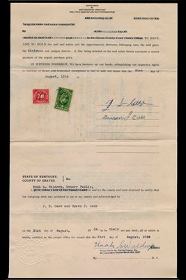 (PAGES 3-4) 1934 DEED, J.D. CARR TO J.E. WILSON & J.U. KEVIL , GRAVES COUNTY, KENTUCKY