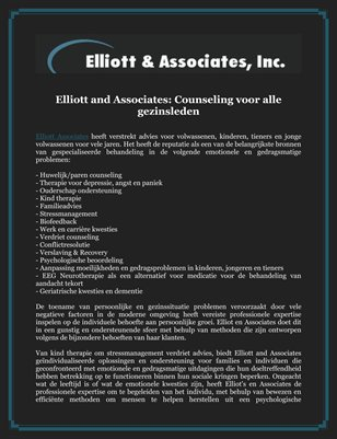Elliott and Associates: Counseling voor alle gezinsleden