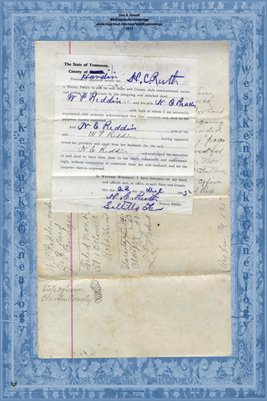 (PAGES 1-2) 1909 DEED W.P. REDDEN TO J.R. BRIDGES, HARDIN COUNTY, TENNESSEE