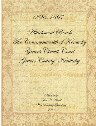 1896-1897 Attachment Bonds, Graves County, Kentucky