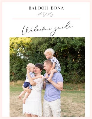 Family photo session welcome guide