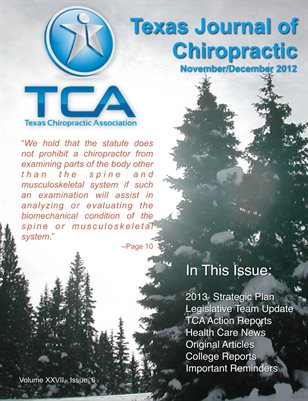 Texas Journal of Chiropractic Nov/Dec 2012