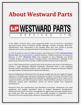 About Westward Parts