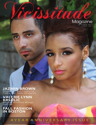 Vicissitude Magazine - October 2012 - 4 Year Anniversary Issue Vol. 2 Carissa Smith and Mr. Vicissitude Cover