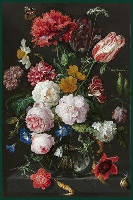 Still life with flowers in a glass vase,  Jan Davidsz. de Heem, 1650 – 1683