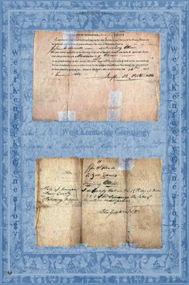 1824 Marriage Certificate, Jesse C.Howell & Mourning Oliver, Maury County, Tennessee
