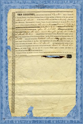1854 Indenture between H.C. Catlett & Annis S. Buck, Fulton & Christian County, Kentucky