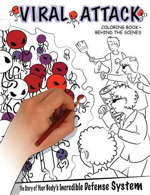 Viral Attack Coloring Book + Behind the Scenes