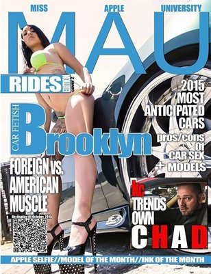 MAU MAGAZINE RIDES ISSUE cover 2