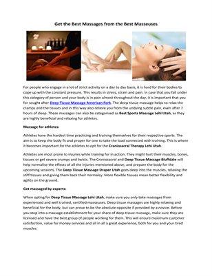 Pregnancy Massage Salt Lake City