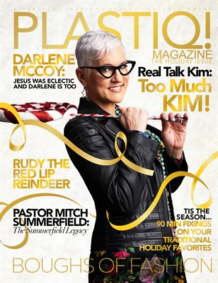 Plastiq! Magazine Holiday Issue featuring Real Talk Kim