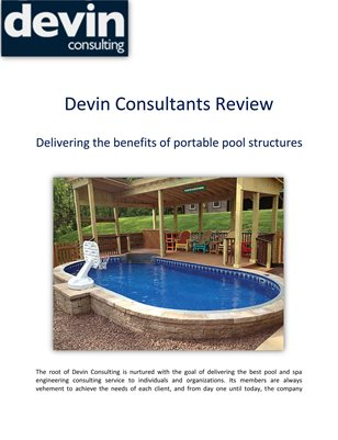 Devin Consultants Review: Delivering the benefits of portable pool structures