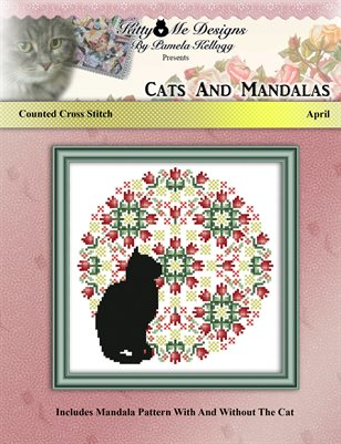 Cats And Mandalas April Cross Stitch Pattern