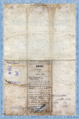 1919 Deed, Pitman to Adams, Graves County, Kentucky