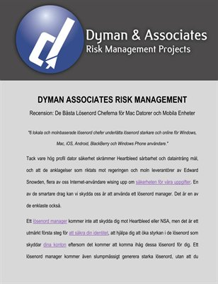 Dyman Associates Risk Management Recension: De Bästa Lösenord Cheferna för Mac datorer och Mobila Enheter
