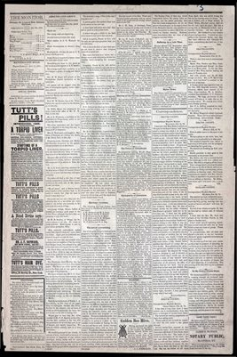 (PAGES 3-4) MARCH 01, 1879 MAYFIELD MONITOR NEWSPAPER, MAYFIELD, GRAVES COUNTY, KENTUCKY