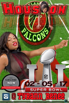 Tyrann 2017 #SuperBowl Falcons football poster