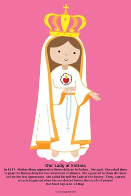 Happy Saints Our Lady of Fatima Poster
