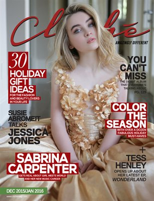 Cliché Magazine - Dec 2015/Jan 2016 (Sabrina Carpenter Cover)