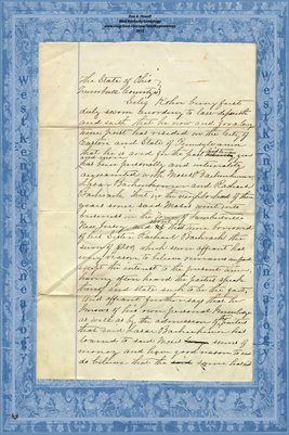 1868 Affidavit of Selig Kohn, Trumbull County, Ohio
